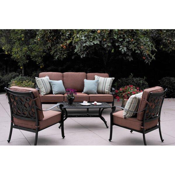 Mccraney 4 Piece Sofa Set with Cushions by Astoria Grand