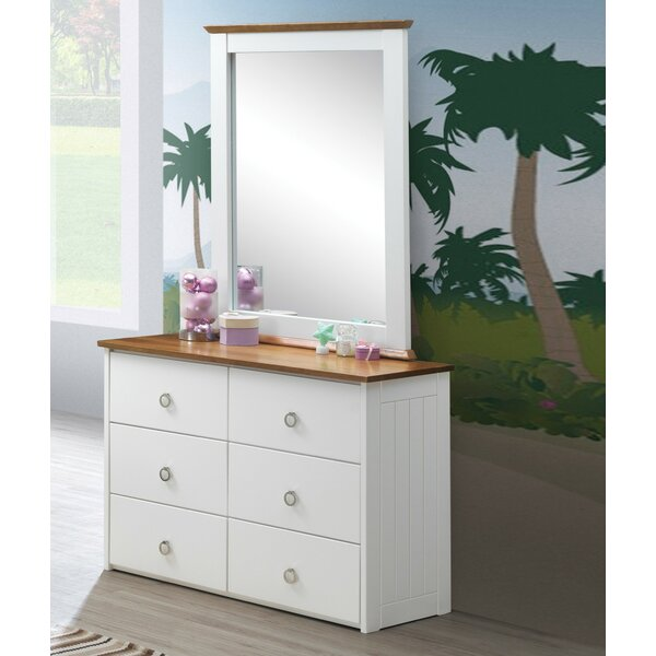 Lasater 6 Drawer Double Dresser with Mirror by Isabelle & Max
