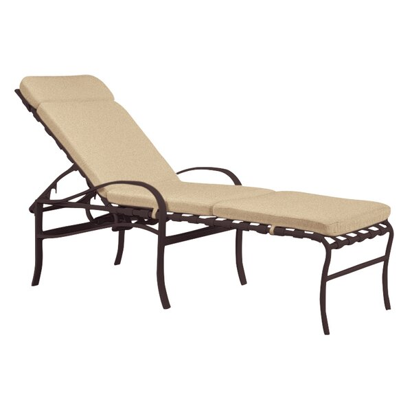Palladian Reclining Chaise Lounge with Cushion by Tropitone