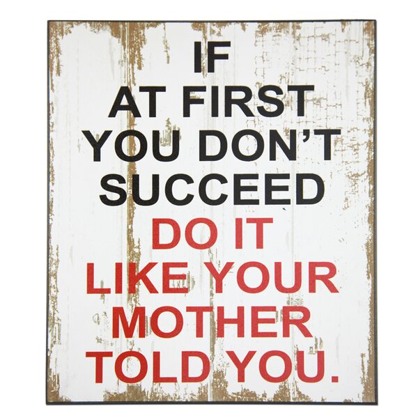 Succeed Mother Textual Art Plaque by African American Expressions