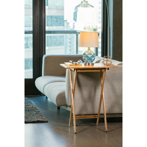 Hodge Folding Snack Tray Table by Ebern Designs| @ $53.99