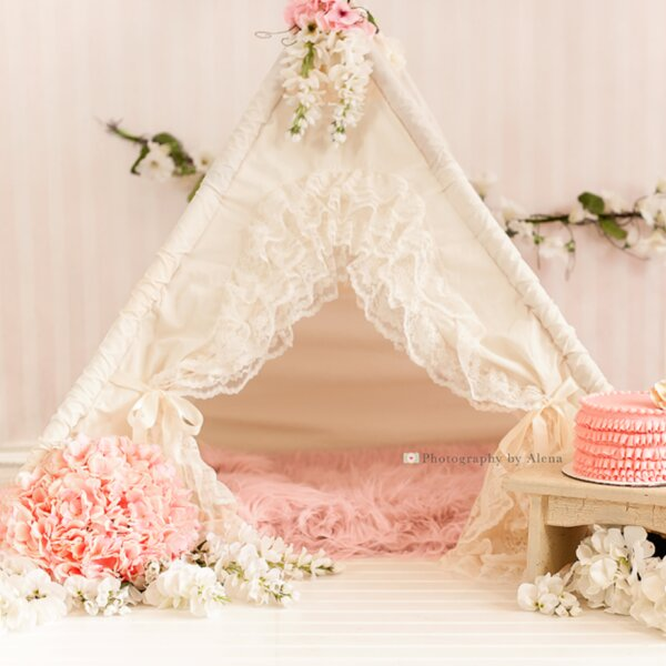 Bianca Baby Teepee Play Tent by Sugar Shacks Teepe