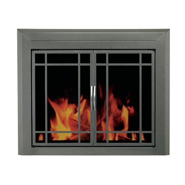 Edinburg Prairie Cabinet Style Steel Fireplace Doors By Pleasant Hearth