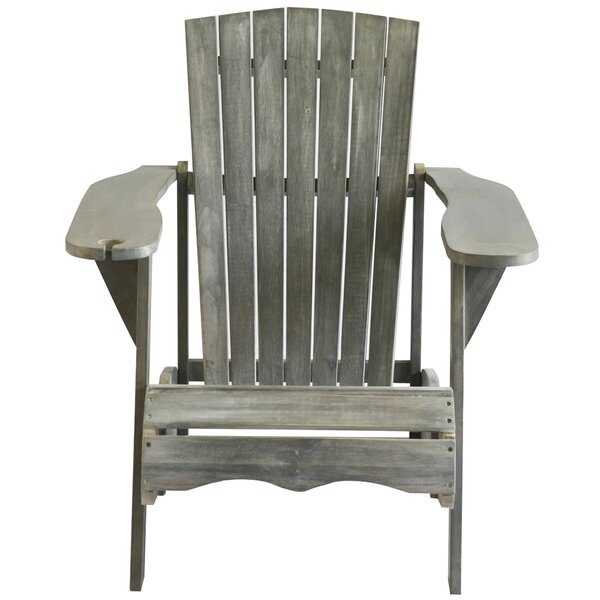 Briaca Shores Solid Wood Adirondack Chair by Highland Dunes