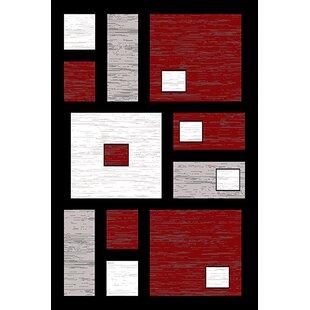 Coursey Red/Black Area Rug ByEbern Designs