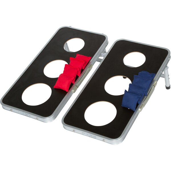 10 Piece 3-Hole Cornhole Game Set by Trademark Innovations