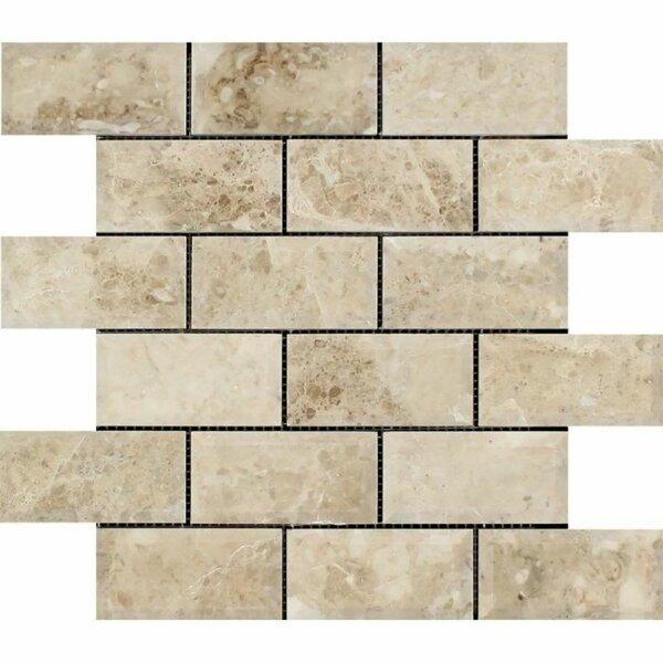 2 x 4 Marble Brick Joint Mosaic Wall & Floor Tile
