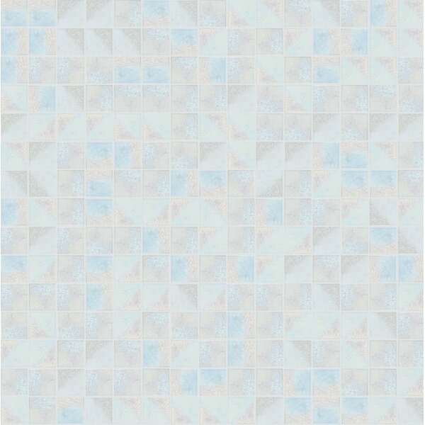 Glare 13 x 13 Glass Mosaic Tile in Blue/Gray by Mosaic Loft