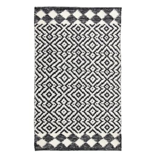 Odeon Hand-Woven Black Indoor/Outdoor Area Rug by CompanyC