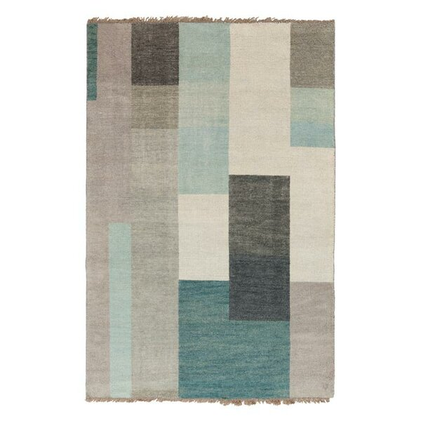 Crisfield Hand-Knotted Dove Gray Area Rug by Wrought Studio