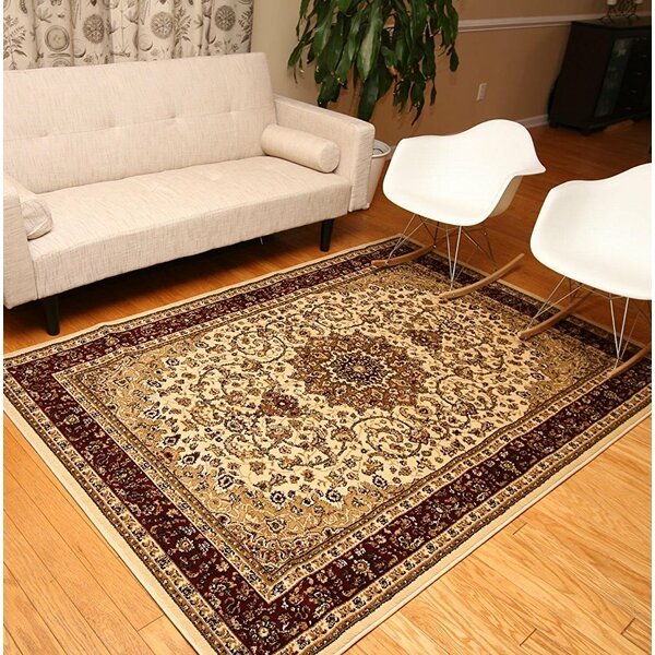 Medeiros Beige/Brown Area Rug by Astoria Grand