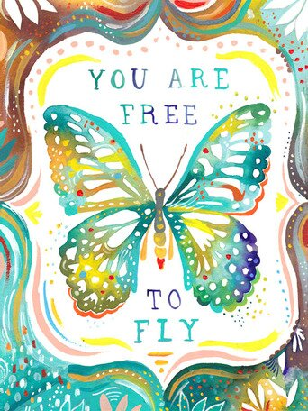 You Are Free to Fly Canvas Art by Oopsy Daisy