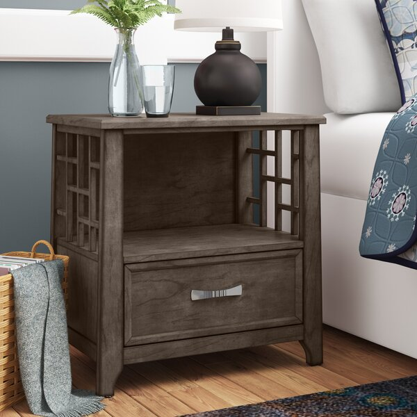 Pirkle 1 Drawer Nightstand by Gracie Oaks