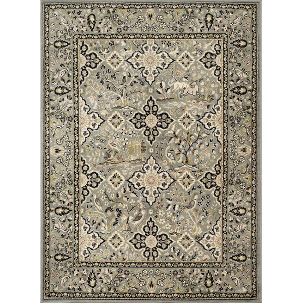 Kindel Green/Beige Area Rug by Charlton Home