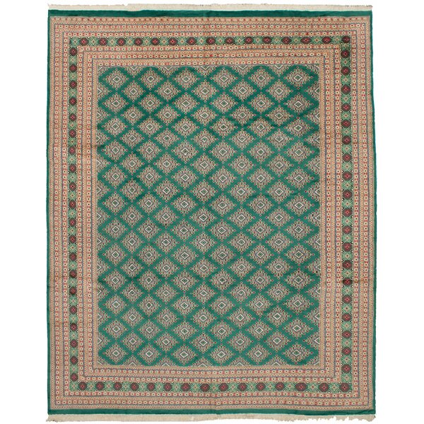 One-of-a-Kind Do Hand-Knotted Wool Teal Area Rug by Isabelline