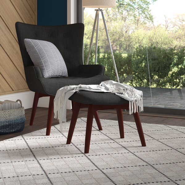 Burgin Armchair and Ottoman by Ivy Bronx