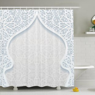 Searching for Traditional House Arabesque Arched Royal Persian Figure with Floral Cultural Graphic Shower Curtain Set ByAmbesonne