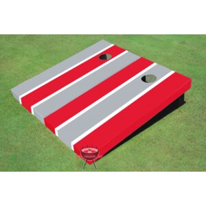 Alternating Long Stripe Cornhole Board (Set of 2)