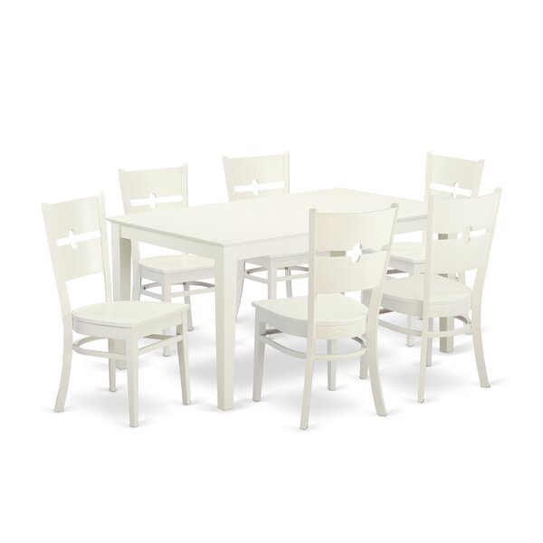 Best #1 Smyrna 7 Piece Solid Wood Dining Set By Charlton Home Wonderful