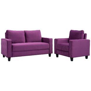 Jakyree 2 Piece Velvet Living Room Set by Latitude Run®