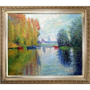 Autumn on the Seine at Argenteuil by Claude Monet Framed Painting Print by Tori Home
