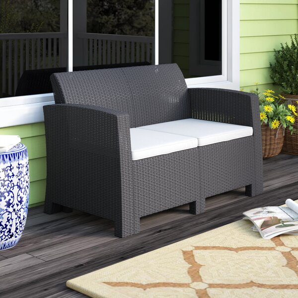 Stockwell Patio Sofa with Cushions by Breakwater Bay Breakwater Bay