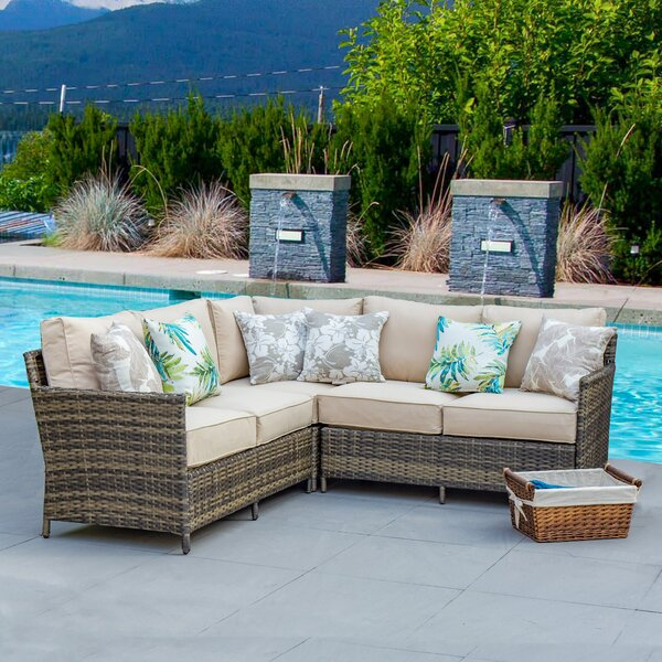 Farr 3 Piece Sectional Seating Group with Cushions by Bay Isle Home