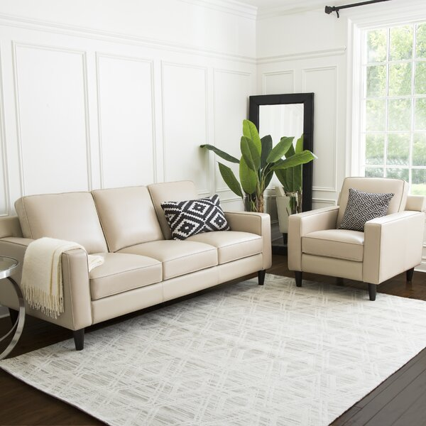 Oaklynn 2 Piece Leather Living Room Set by Darby Home Co
