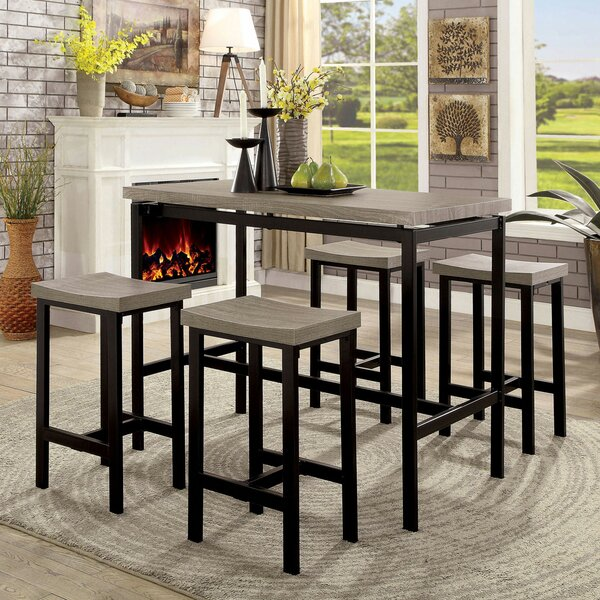 Marble 5 Piece Dining Set by Latitude Run