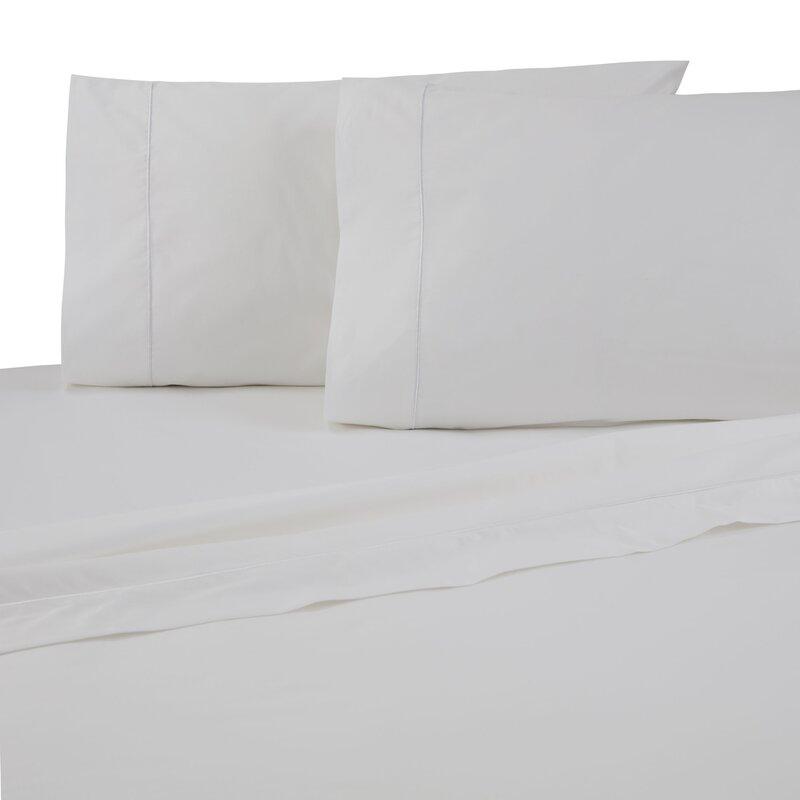 Set of 2 White Silky Supima 300 threadc King Sham NEW pillow shams Company Store