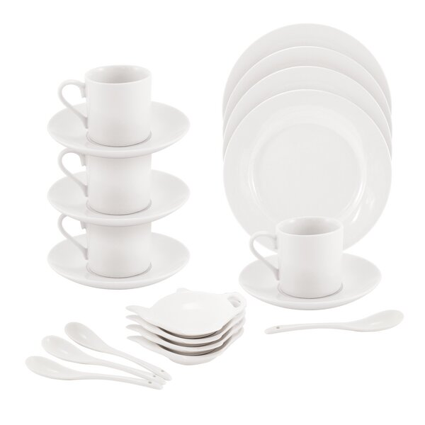 Rim Tea Party 16 Piece Set, Service for 4 by Maxwell & Williams