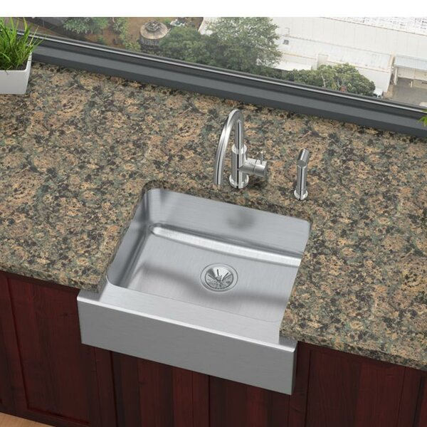 Lustertone 25 x 21 Farmhouse/Apron Kitchen Sink by Elkay