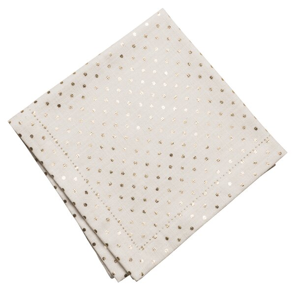 Powell Metallic Mini Dot Napkin (Set of 4) by Mercer41