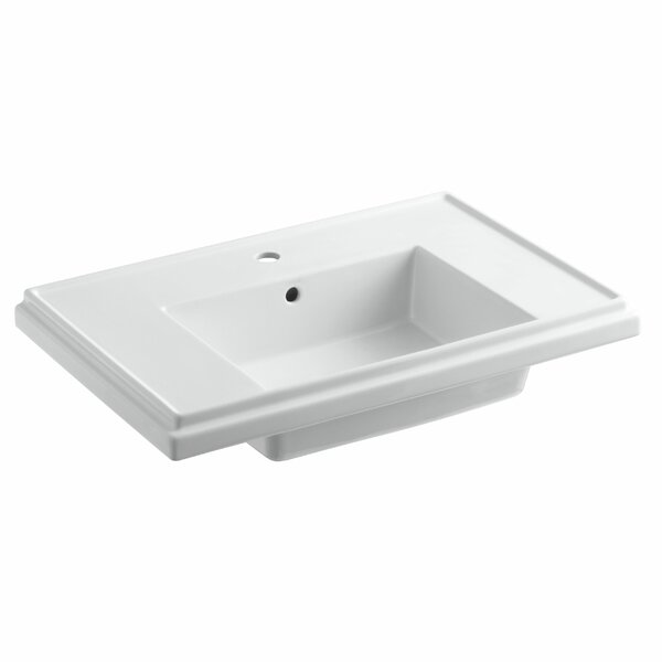 Tresham® Ceramic 30 Pedestal Bathroom Sink with Overflow by Kohler