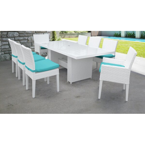 Burgoon 9 Piece Dining Set with Cushions