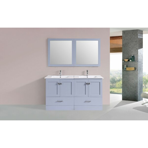 Landrum Modern 60 Double Bathroom Vanity Set by Latitude Run