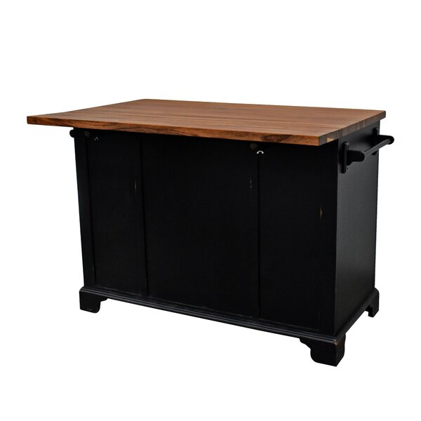 Gerson Drop Leaf Kitchen Island by Darby Home Co