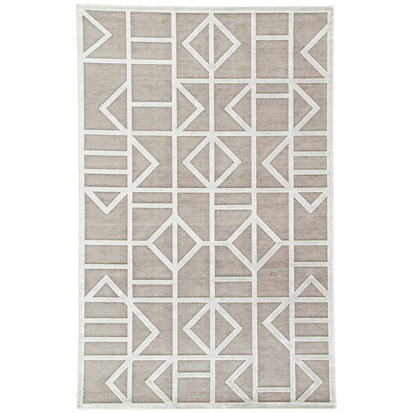Totem Power-Loomed Gray/White Area Rug by Wrought Studio