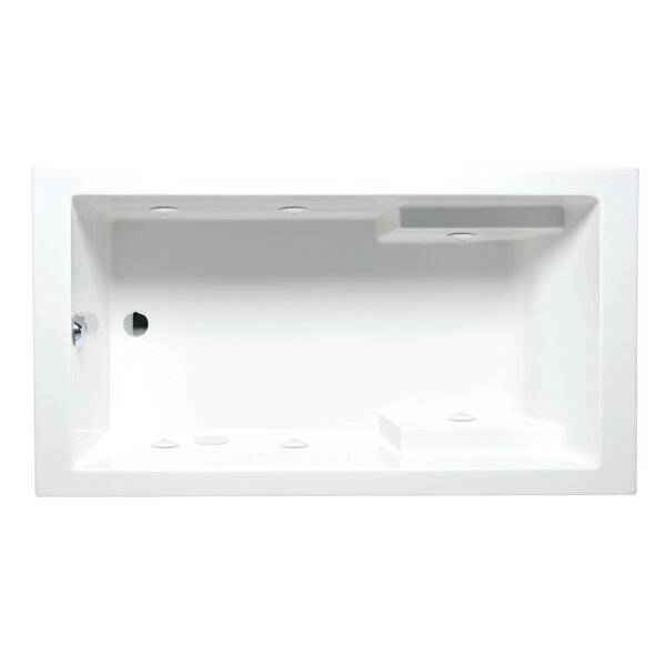 Nadia 72 x 36 Drop in Whirlpool Bathtub by Americh