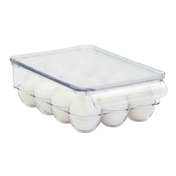 Plastic Fridge Bin 12-Egg Holder by Home Basics