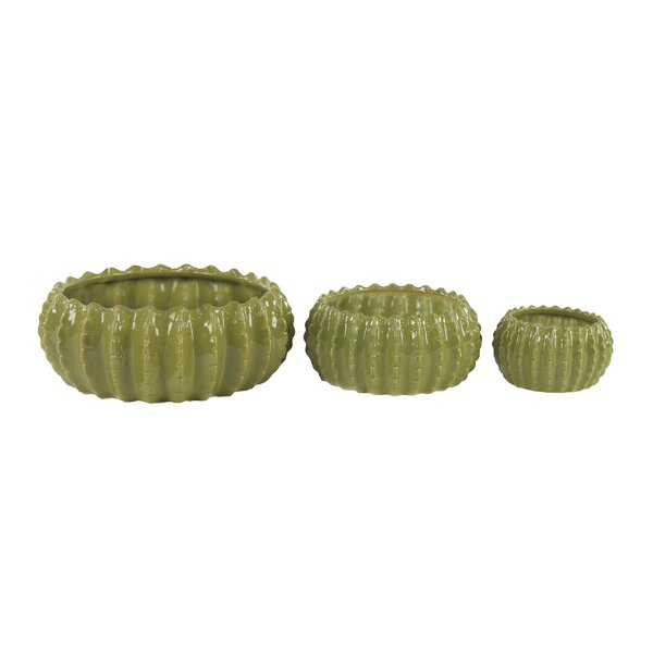 Westlawn Eclectic 3-Piece Ceramic Pot Planter Set by Bay Isle Home