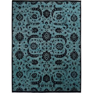 Shop For One-of-a-Kind Hand-Knotted Wool Blue/Black Area Rug ByWildon Home ®
