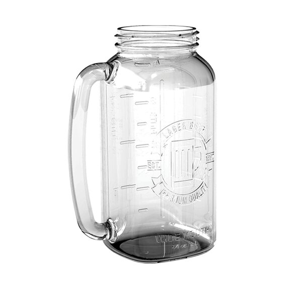 Jurado Beer Stein 64 oz. Glass Mason Jar (Set of 2) by Winston Porter