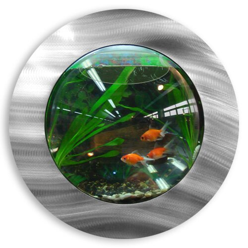 Ivan 1 Gallon Fish Bubble Deluxe Wall Mounted Aquarium Tank by Tucker Murphy Pet