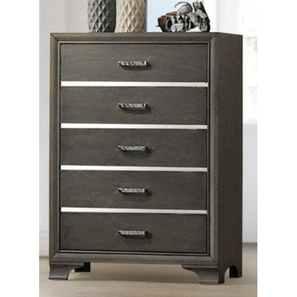 Alexandro 5 Drawer Chest by Ebern Designs