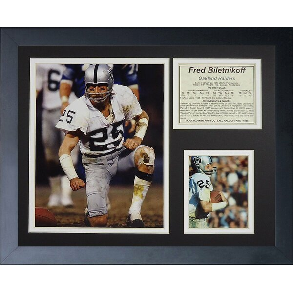 Fred Biletnikoff Framed Memorabilia by Legends Never Die