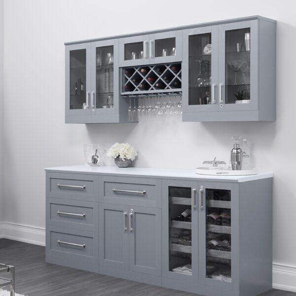Home Series Shaker Style Back Bar with Wine Storage by NewAge Products