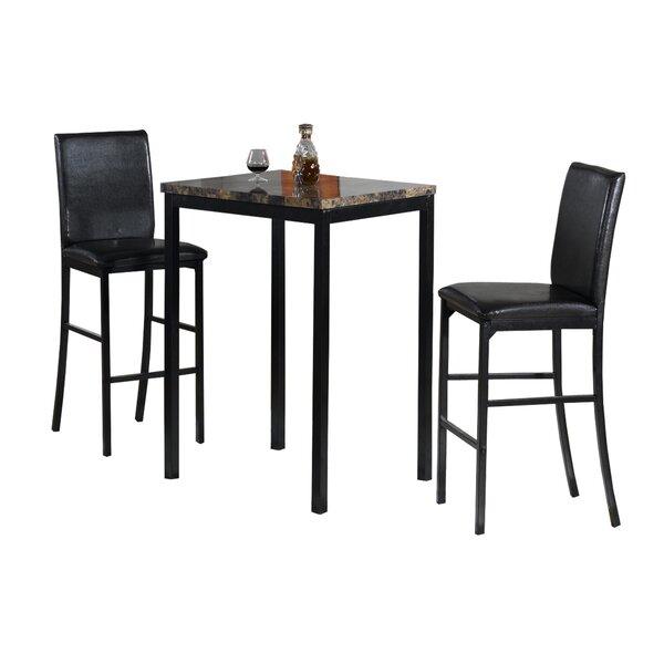 Della 3 Piece Bistro Pub Table Set by Hazelwood Home