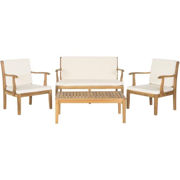 Montclair 4 Piece Sofa Set with Cushions by Safavieh