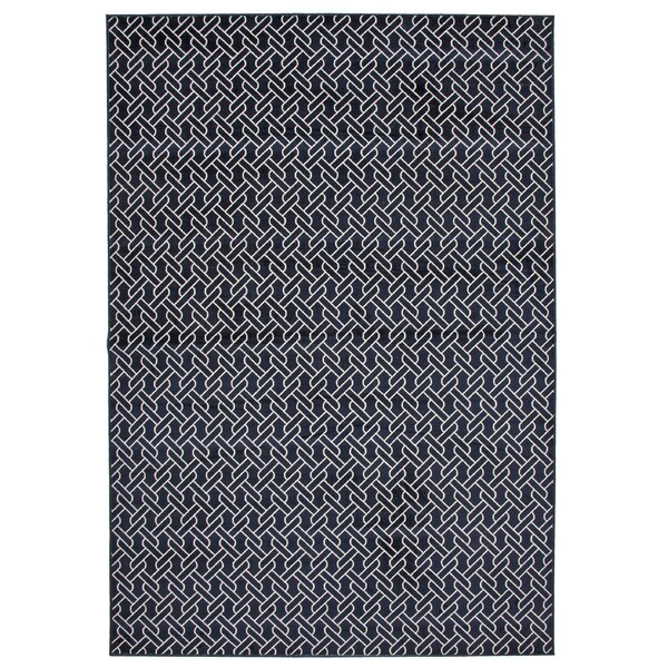 Claxton Navy Blue Area Rug by Ivy Bronx